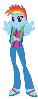 FANMADE Rainbow Dash Human Filly