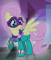 Fluttershy as Saddle Rager ID S04E06.png