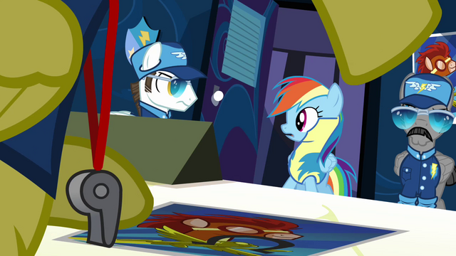 File:Rainbow looking at white pegasus to the left S3E7.png