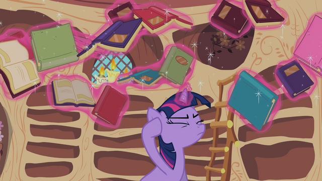 File:Twilight Sparkle reshelf books 1 S02E10.png