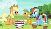 "Applejack ""clear who the other two players should be"" S6E18"