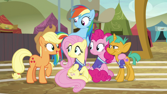 """File:Applejack """"you three made quite an impression!"""" S6E18.png"""