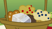 Gem falls into a basket of muffins S4E18