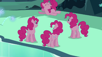 Pinkie Pie clone up in the air S3E03