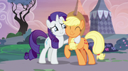 Rarity hugging and thanking Applejack S7E9.png