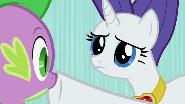 File:Rarity silently looks upon Spike S02E10.png