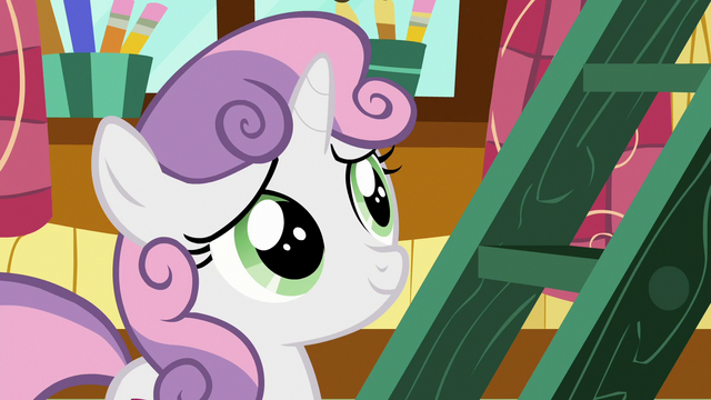 File:Sweetie Belle smiling at Rarity S7E6.png