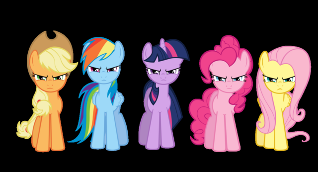 File:FANMADE mane six angry.png
