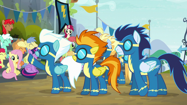 File:Wonderbolts wave to the crowd S6E7.png