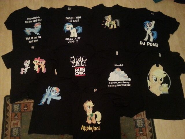 File:My MLP T shirt collection.jpg