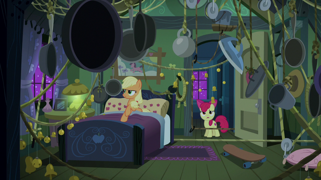 File:Applejack's booby-trapped bedroom S6E15.png