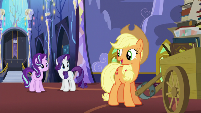 """File:Applejack """"while y'all figure that out"""" S6E21.png"""