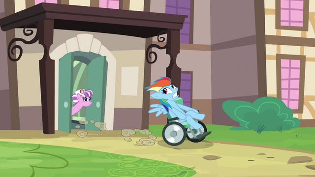 File:Rainbow Dash wheelchair S02E16.png