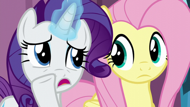 "File:Rarity whispering ""better luck with the baby"" S6E1.png"