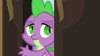 Spike enters Twilight's room again S5E10