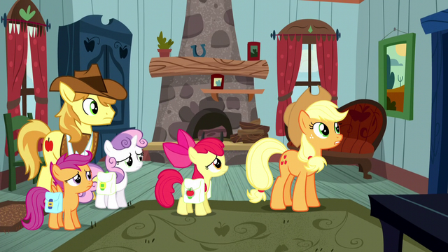 """File:Applejack """"with some outlaw on the loose"""" S5E6.png"""
