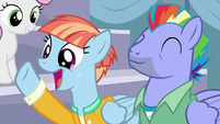 Bow and Windy enthralled by Scootaloo's story S7E7