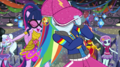 Rainbow Dash hides her eyes under her cap EGS1.png
