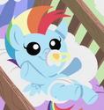 Rainbow Dash infant ID S7E7