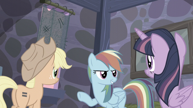 """File:Rainbow """"Fluttershy will have us out of here in no time!"""" S5E02.png"""