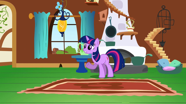 File:Twilight trying to reason with Fluttershy S2E21.png