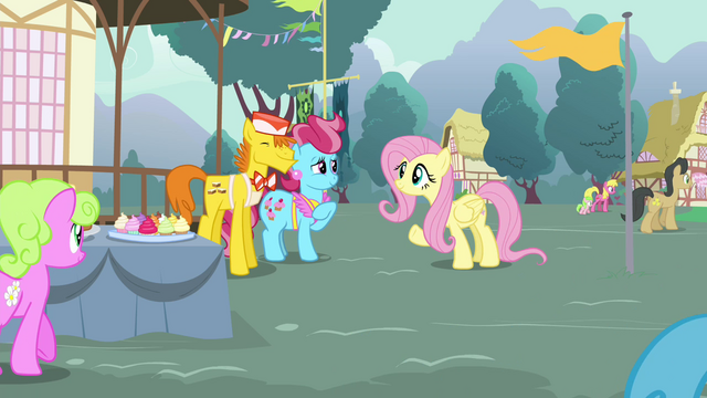 File:Mr. Cake complimenting Fluttershy S4E16.png