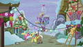 Ponies decorate town for Hearth's Warming S5E20.png