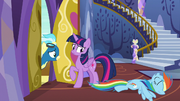 Rainbow Dash collapses onto the floor S6E24