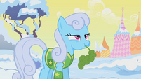 Shoeshine chewing on leaf at Winter Wrap Up town meeting S1E11