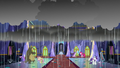 Rain pours down on the castle foyer S6E21.png