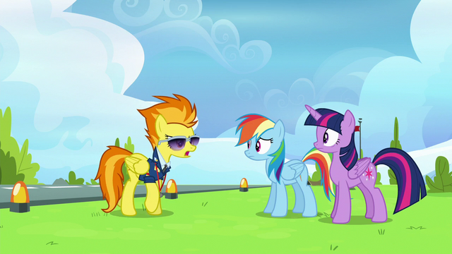 File:Spitfire angrily approaches Twilight and Rainbow S6E24.png