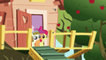 Apple Bloom, Scootaloo, and Zipporwhill watch Rarity and Sweetie leave S7E6.png