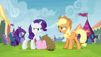 Applejack and Rarity still arguing S4E22