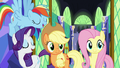 Applejack and friends agree with Twilight Sparkle S7E11.png