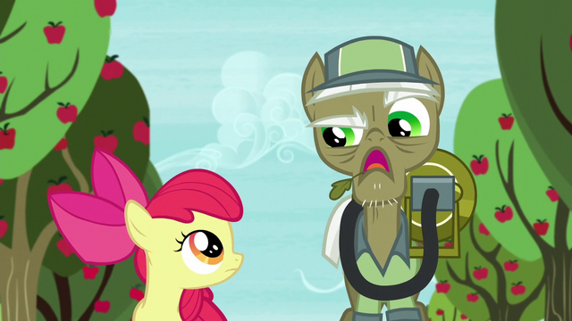 """File:Pest pony """"Anypony with a trombone can get rid of parasprites"""" S5E04.png"""