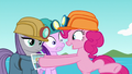 Pinkie giving photo to Starlight and Maud S7E4.png