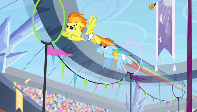 File:Rainbow and Spitfire flying through rings S4E24.png