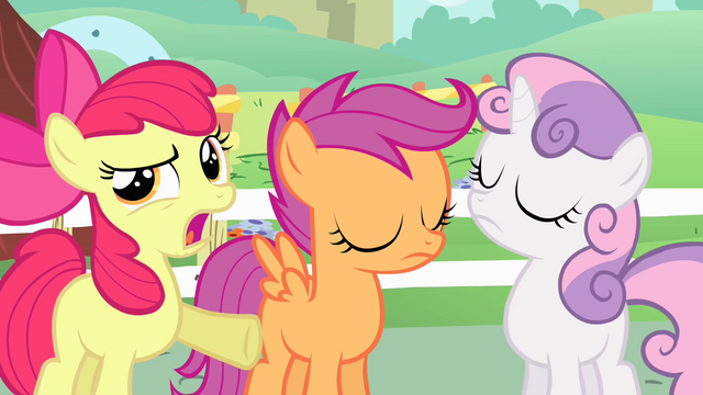 "File:Apple Bloom ""have to do with flag carrying"" S4E05.png"