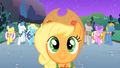 Applejack in front of Fluttershy S01E26.png