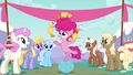 Filly Pinkie Pie juggling rubber chickens S4E12.png