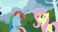 Fluttershy grinning S4E16