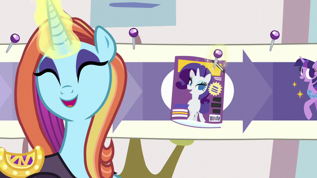"""File:Sassy sticks a pin in """"Cosmare Cover Pony"""" step S5E14.png"""