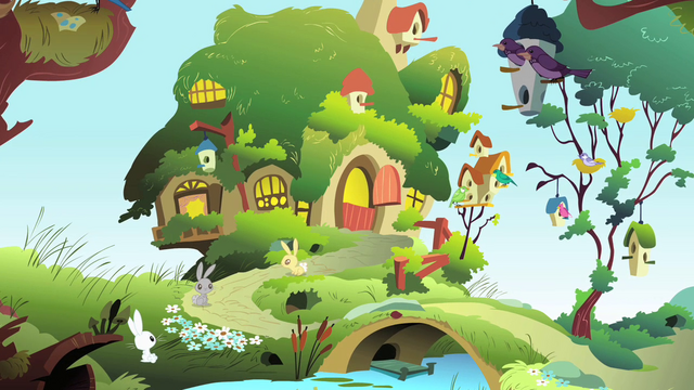 File:View of Fluttershy's Cottage S1E22.png