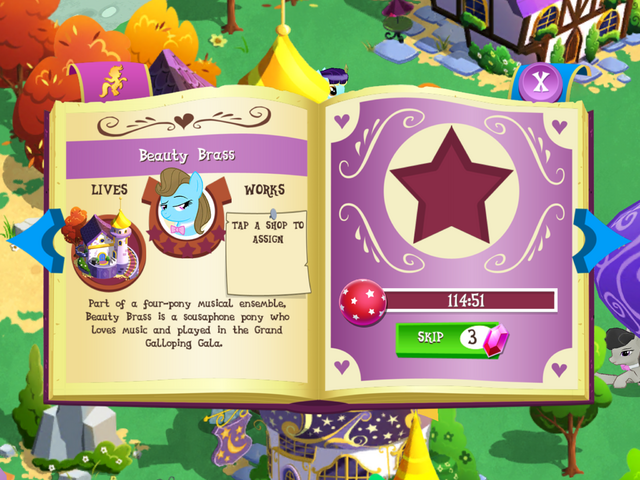 File:Beauty Brass album page MLP mobile game.png