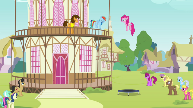 File:Pinkie Pie jumping on a trampoline S4E12.png