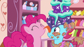 Pinkie licks cake off Mrs. Cake S6E6.png