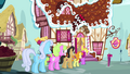 Ponies standing behind Fluttershy S02E19.png