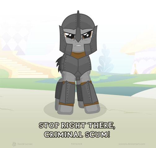 File:FANMADE Elder Scrolls guard pony.jpg