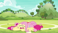 Fluttershy and Pinkie utterly exhausted S6E18