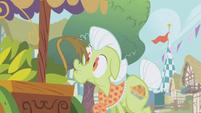 Gilda's tail touches Granny Smith's nose S1E5